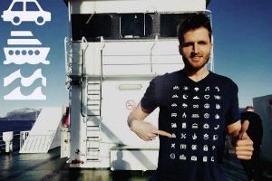 футболка для мандрівника