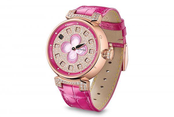 ... годинник інкрустований десятками діамантів.  0842 louis-vuitton-tambour-color-blossom-spin-time-39- 0fde63fb0fe51