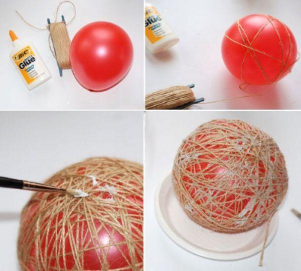 Как сделать новогодние шары своими руками