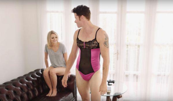 Порно чоловіки в жіночій білизні